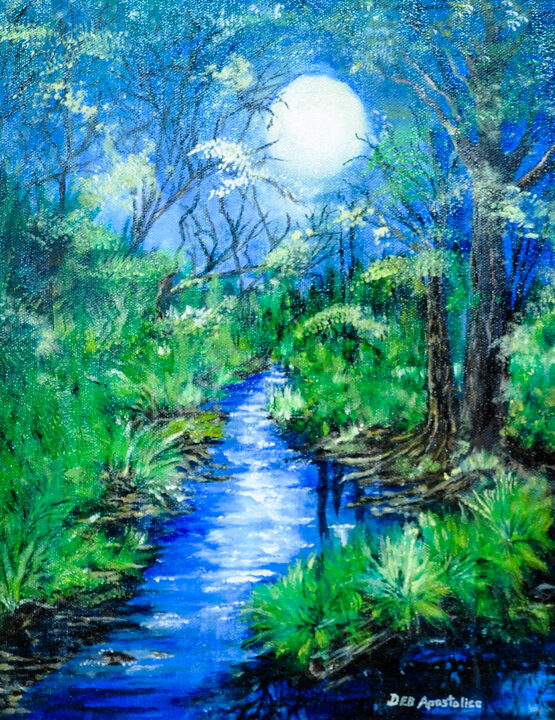"""""""Moonlight Fantasy"""" oil"""