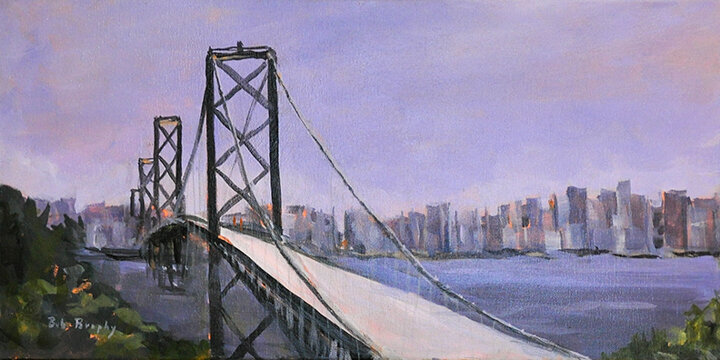 """The Bay Bridge"" acrylic"