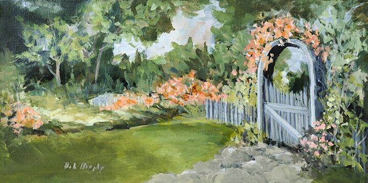 """""""The Garden Gate"""" acrylic"""