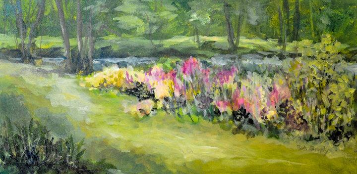 """Along the Brook"" acrylic"