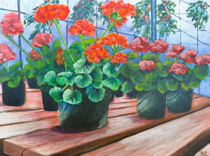 """Geranium Heaven"" acrylic"
