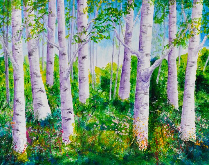 """Birches"" acrylic"