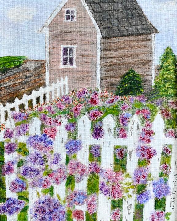 """Rockport Flowers"" acrylic"