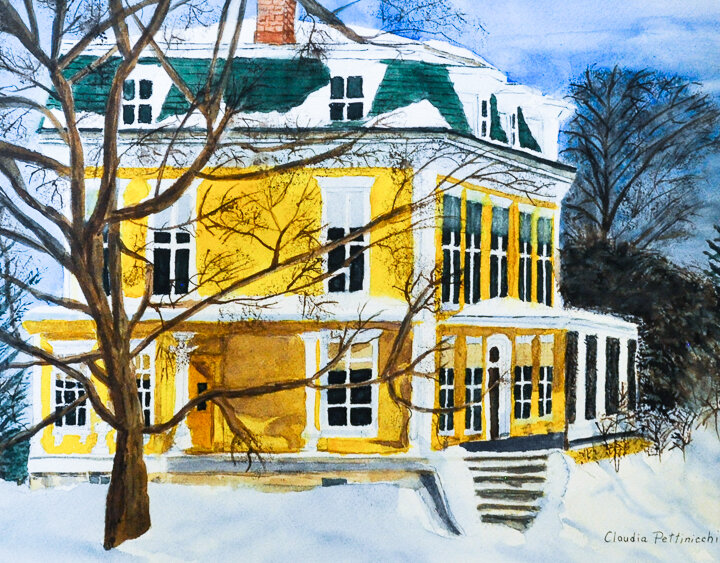 """""""Yellow House"""" watercolor"""