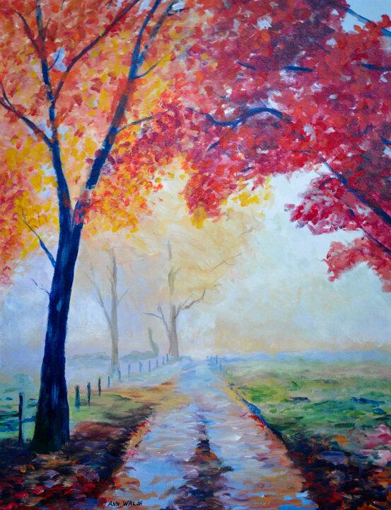 """""""Autumn Mist"""" Acrylic"""