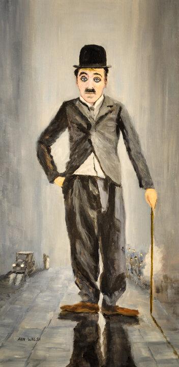 """""""Charlie Chaplin"""" Acrylic"""