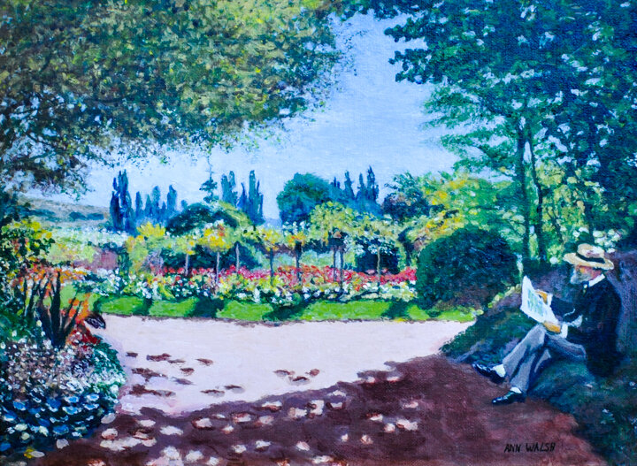 """""""Garden of LeCoteau at St. Adressee"""" Inspired by C. Monet, Acrylic"""