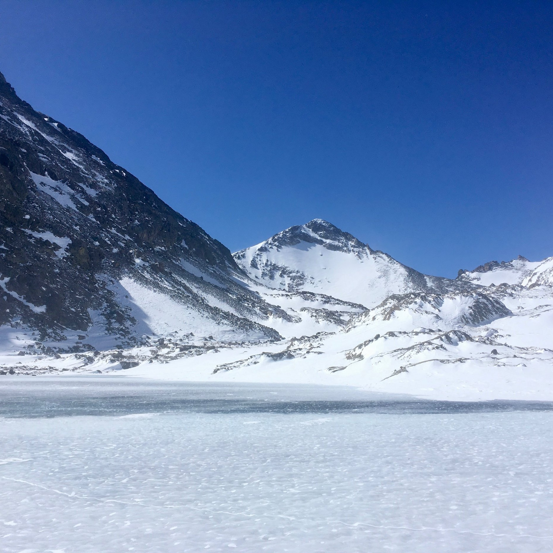 Canary in the coal mine - For more that 35 years we have tracked changes in the 20-acre Arikaree Glacier and in a chain of high-elevation lakes throughout the Green Lakes Valley. We find the the Arikaree Glacier has been thinning by about 1 meter per year for the last 15 years, and that it could disappear in 20 years if current climate trends continue. Our lakes are also staying frozen for shorter and shorter periods each year. Our temperature measures — since the 1950s — suggest that these changes way up near the Continental Divide may be some early warming signs associated with summer and fall warming.