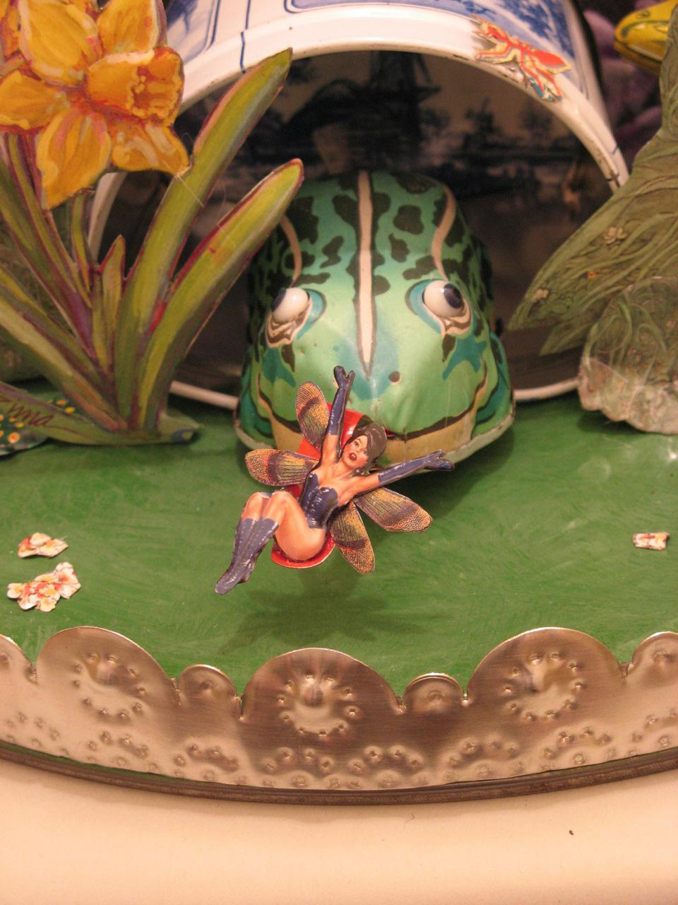 """Detail:   Pinup Fairy's Lament  12""""Diameter x 10""""L"""