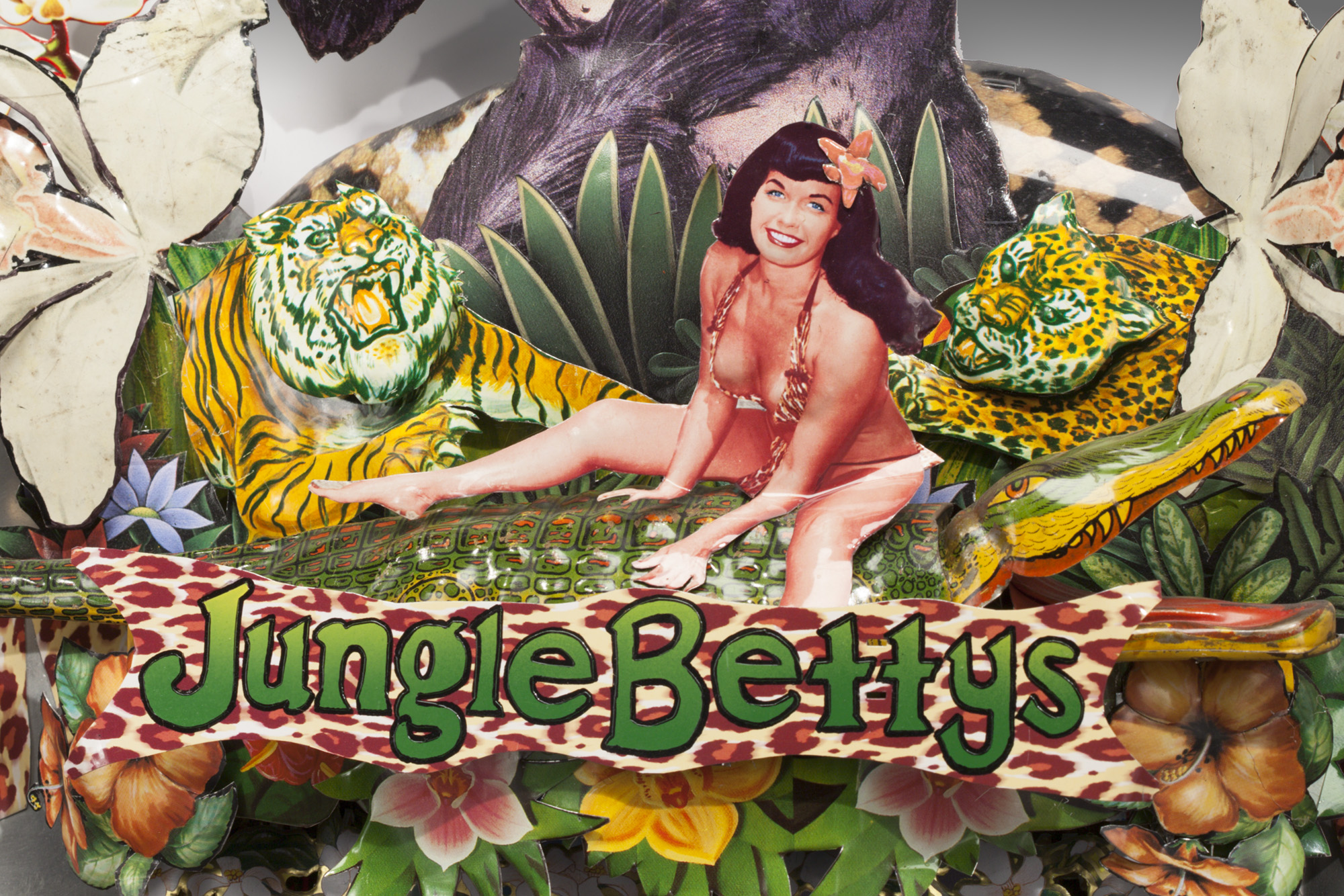 "Detail 2: Jungle Bettys  32""l x 27""w x 5""d"