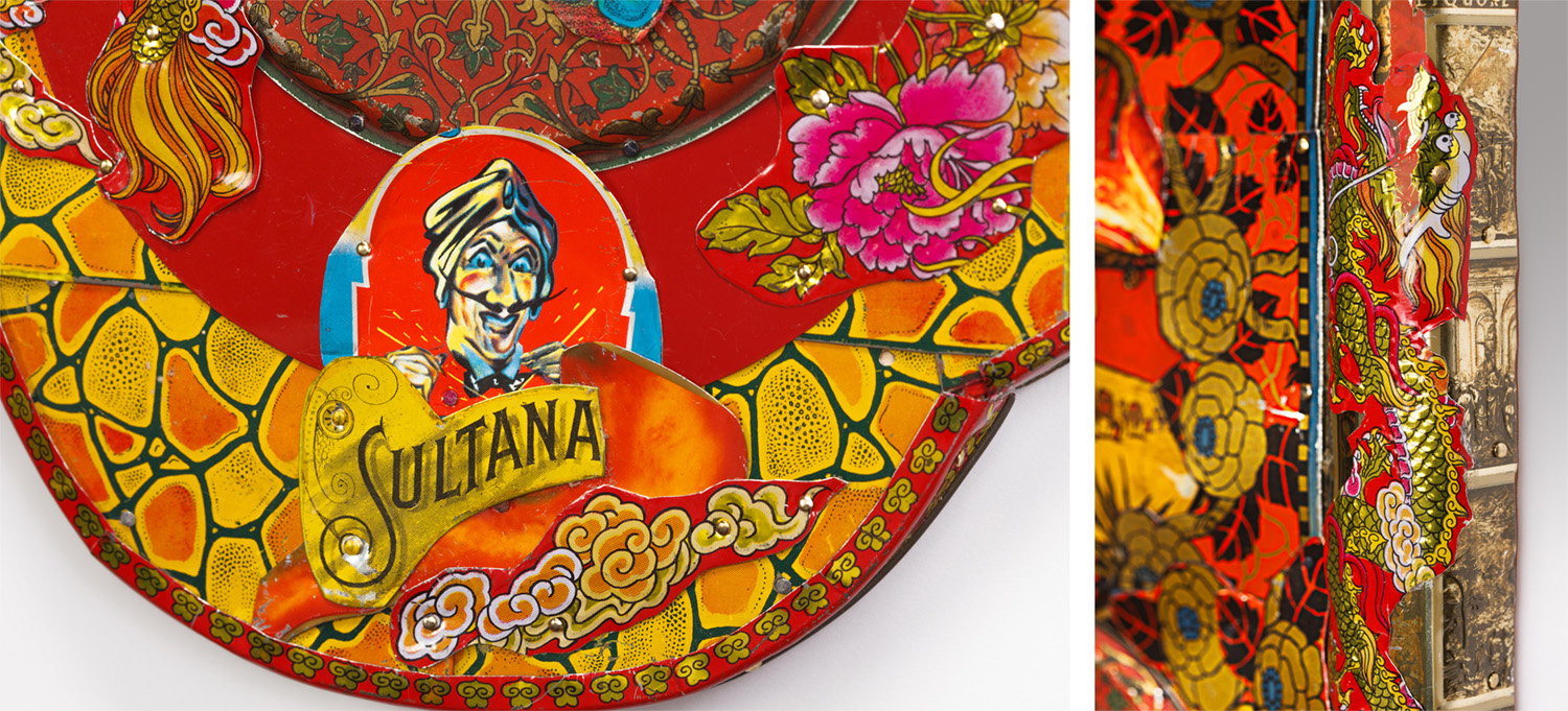 "Detail: Sultana The Fire Eater  22""l x 11""w x 1.75""d"