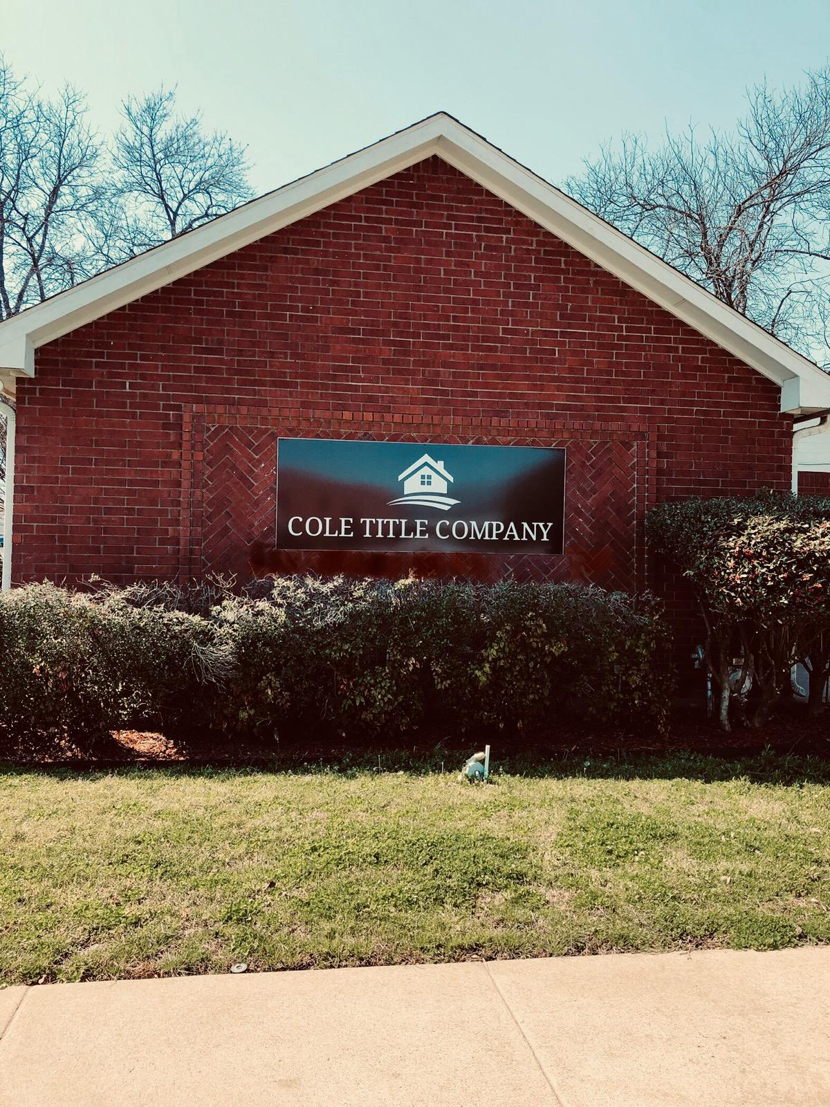 Cole Title Company Bonham Texas