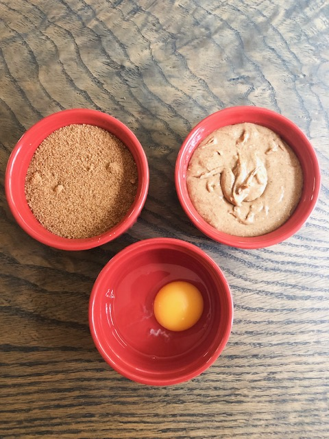 - The easiest 3 - ingredient cookies ever!1 cup coconut sugar1 cup peanut butter or almond butter1 egg
