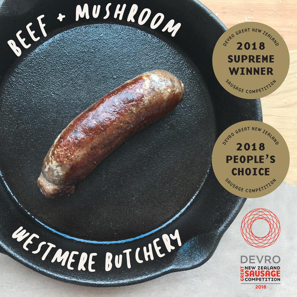 2018 Supreme Winner (joint winner) - Westmere Butchery: Beef & Mushroom