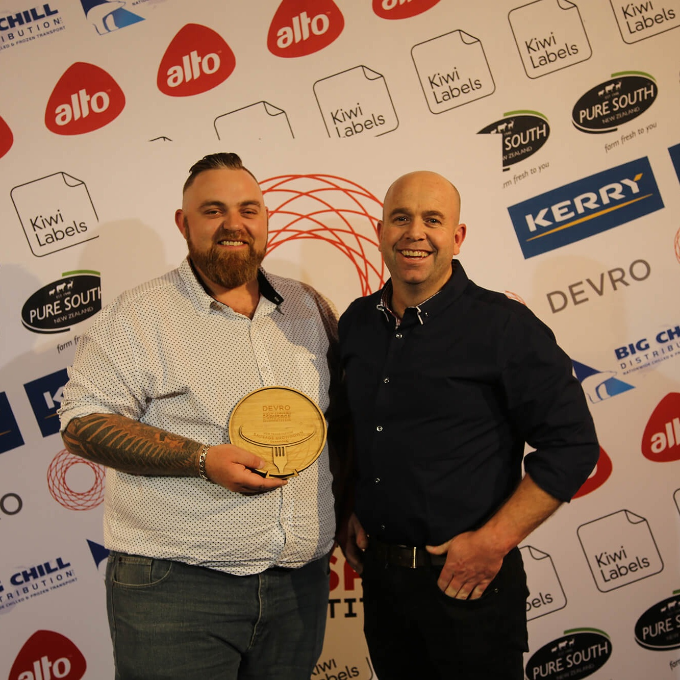 Trans-Tasman Sausage Showdown Winners - New Zealand - Corey Winder & Jeremy Garth