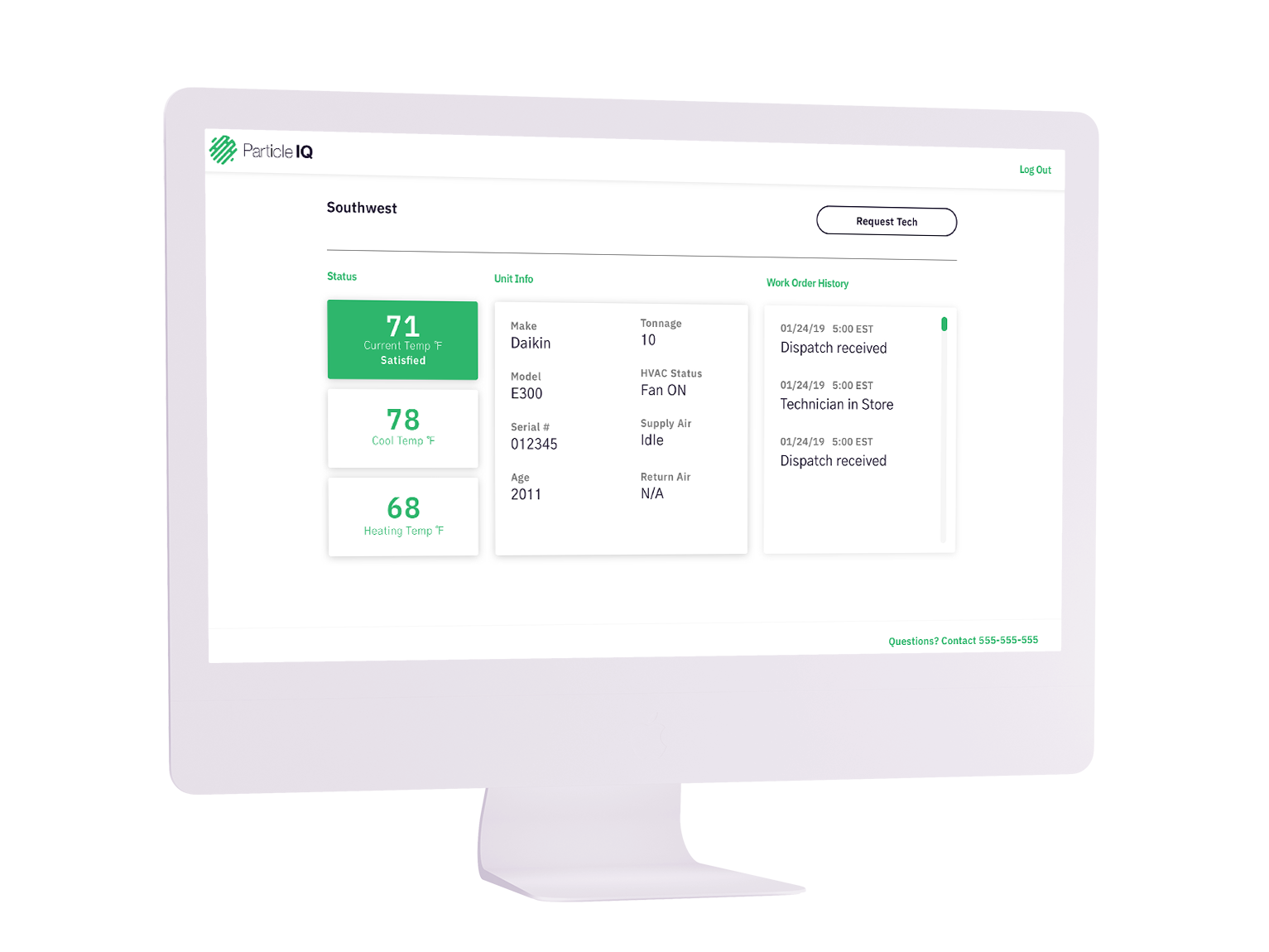 The Particle IQ Solution - Particle IQ is a cloud-enabled HVAC service that allows you to bundle installation, energy management, fault monitoring, maintenance, and reactive repairs into a single, cost-effective monthly service.