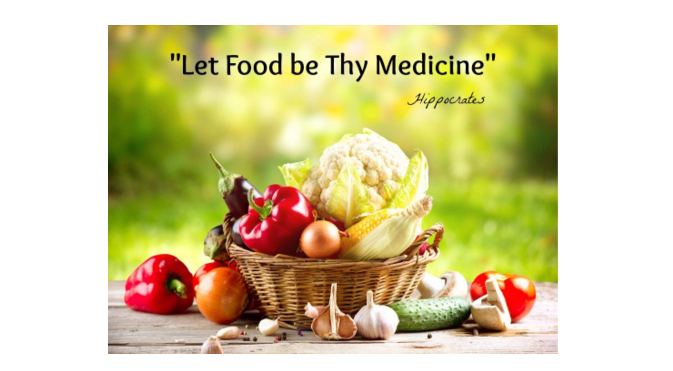 So… whilst no one is saying food is a substitute for traditional medical care, the power of nutrition in prevention and as adjunctive therapy really cannot be ignored! So what do we tell patients?