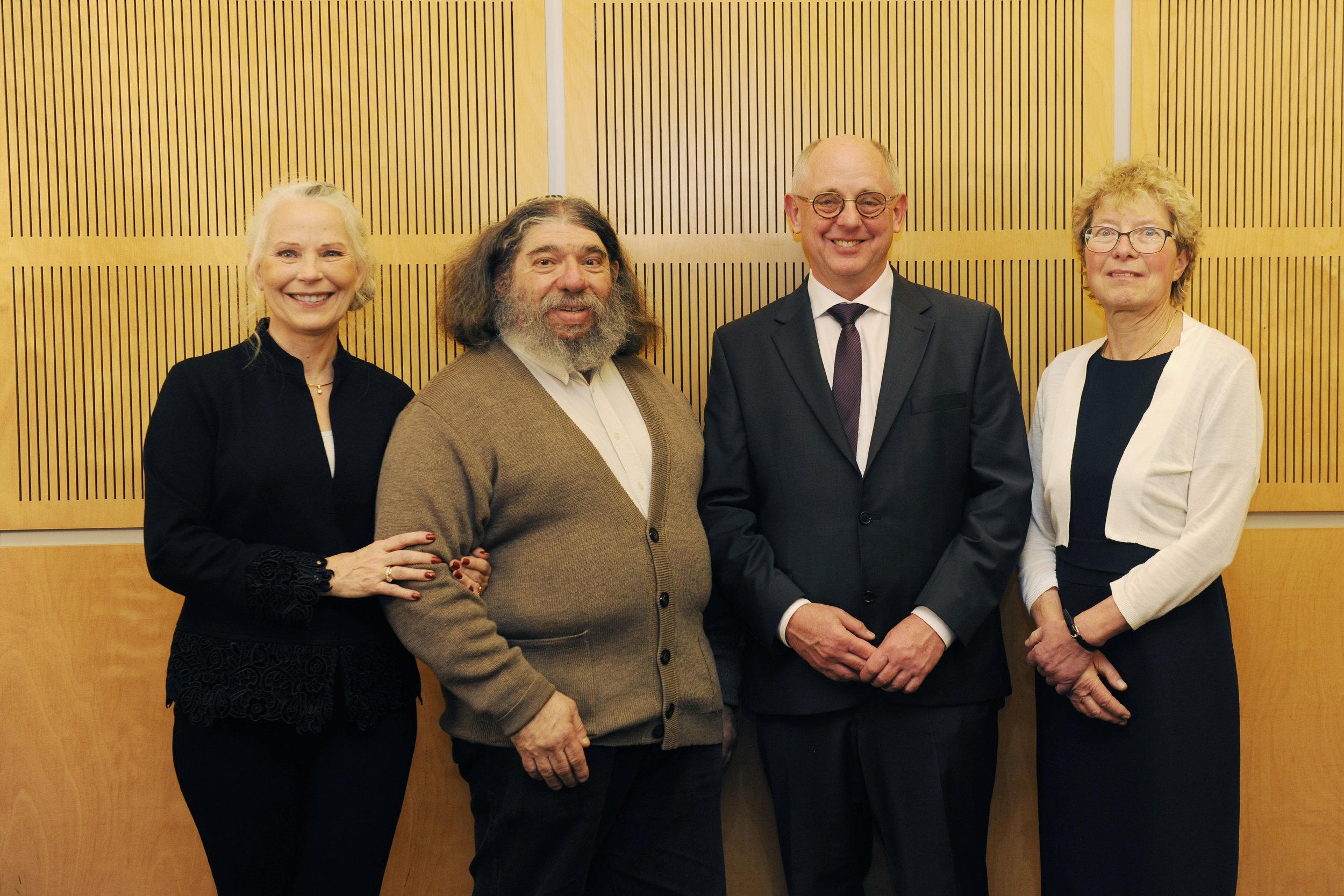 Gabriele Hannah, Hans-Dieter and Martina Graf with friend Howard Kahn
