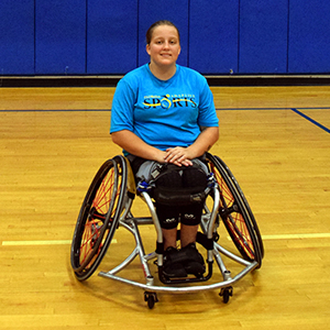 Emily: Adaptive Athlete, plays for the University of Texas at Arlington; future Paralympian