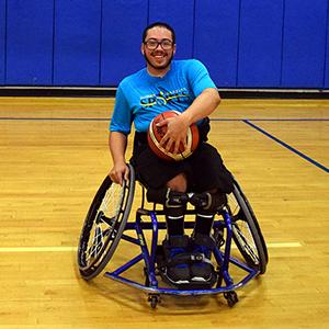 Jake: Adaptive Athlete, plays for the Orlando Magic Wheels