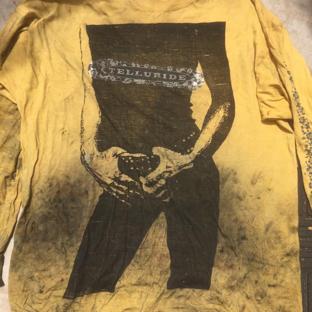 It's only rock'n roll print on long sleeve, worn printing