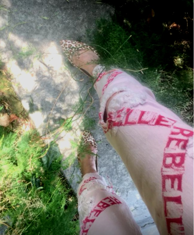 …and her custom Rebelle jeans