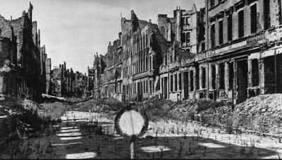 Berlin street after the war.