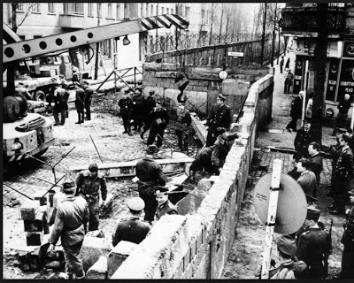 Berlin wall being build. August 1961