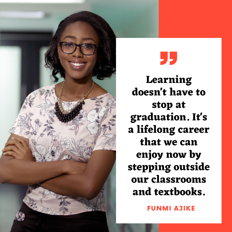 Funmi Ajike - Funmi is currently spending her undergrad years at JMSB learning the art and science of Marketing. With an international background and a taste for the intersection of business and creativity, Funmi has sought umpteen opportunities to be involved in various circles in JMSB & Montreal at large. Being determined to go beyond her classroom and textbooks, she joined the WE Initiative among other exciting adventures for the upcoming academic year.Follow Funmi's C2 journey on Instagram @fun.mii !