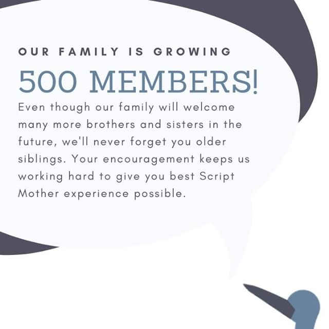 We've officially hit 500 members! Thank you to everyone who has made this possible. Share this post and help us find our next 500 writers. #amwriting