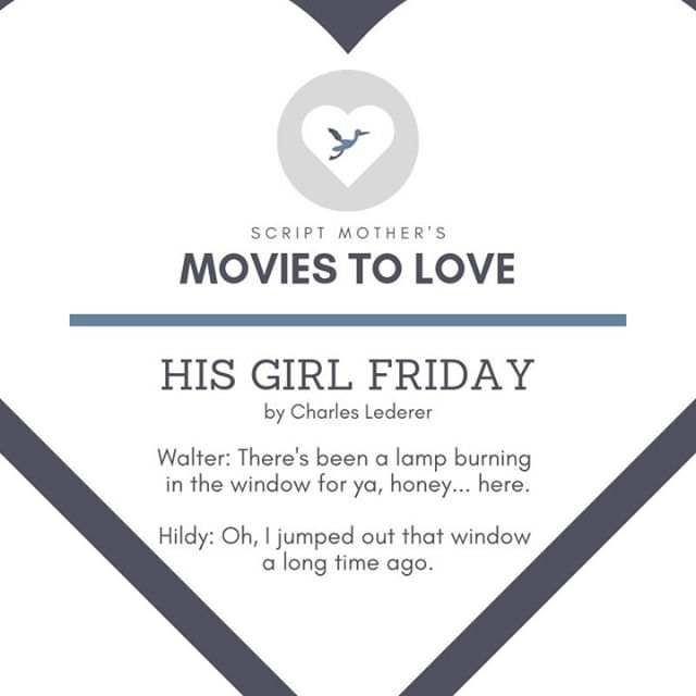 """Looking to expand your #RomCom knowledge into the classics? Check out """"His Girl Friday"""" from 1940."""