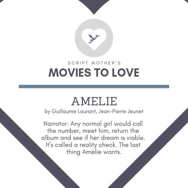 We're jet-setting to France for Day 6 of Script Mother's Movies to Love with #Amelie, starring Audrey Tautou.