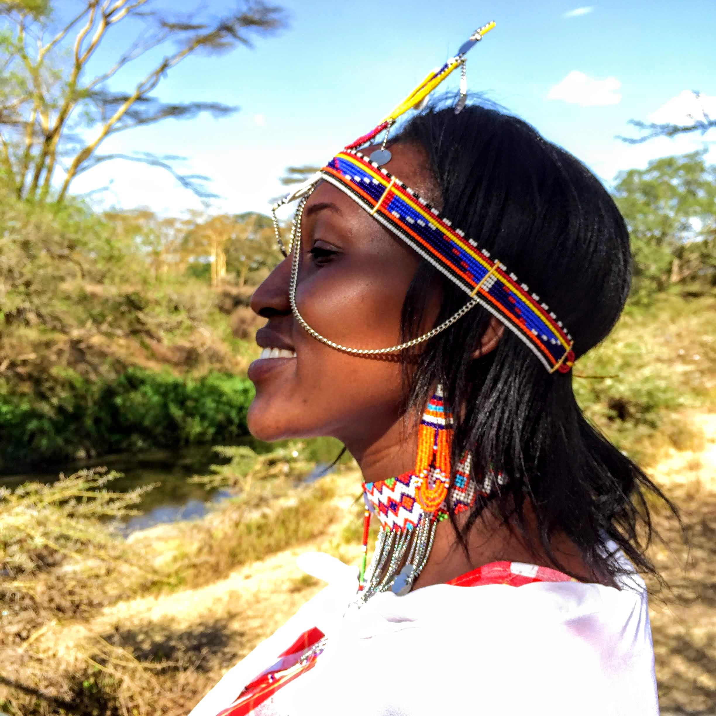 Phoebe Lasoi is the master Maasai beading designer from the Kitengela Olmakau Woman's Collective's who will be selling Maasai bead work in Santa Fe's International Folk Art Market this summer.