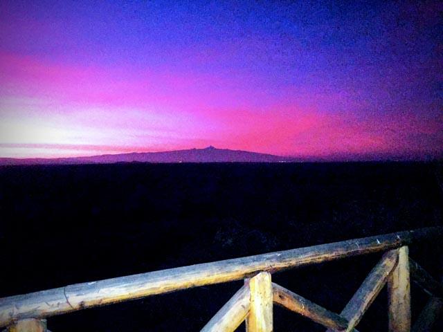 and return to say good night to Mt. Kenya on the horizon.