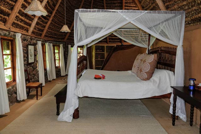 Each room has stunning views from the bed.