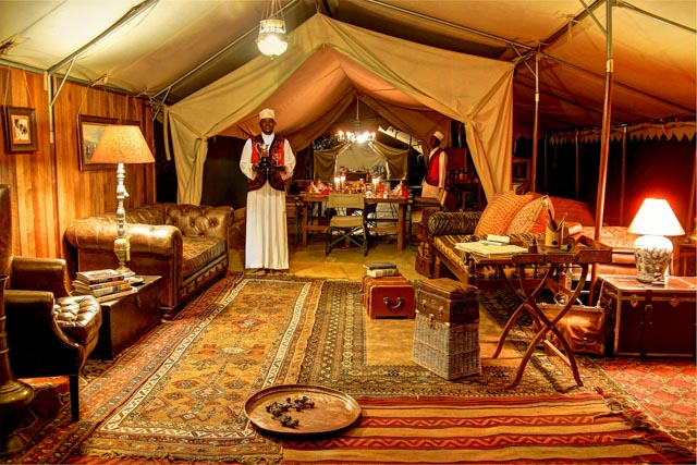Newland Tarleton invented the style of luxury tented camps…