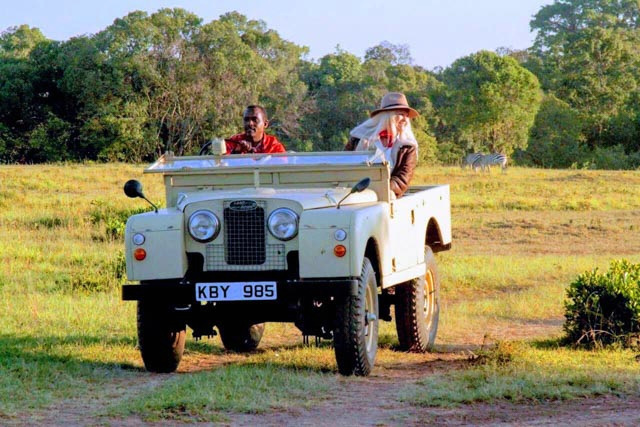Today's highlight: game drive in a Vintage Land Rover!