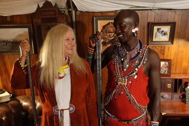 The Maasai trackers have become friends.