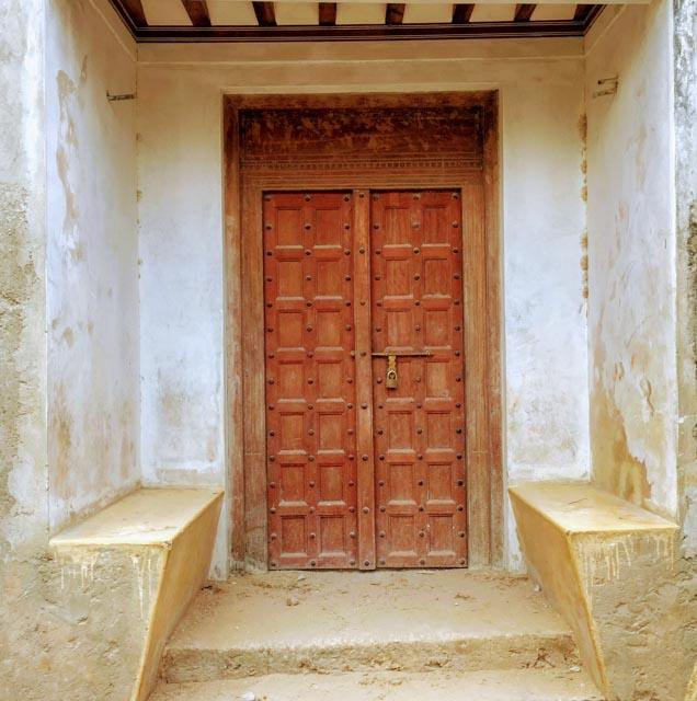 The entrance is plain…