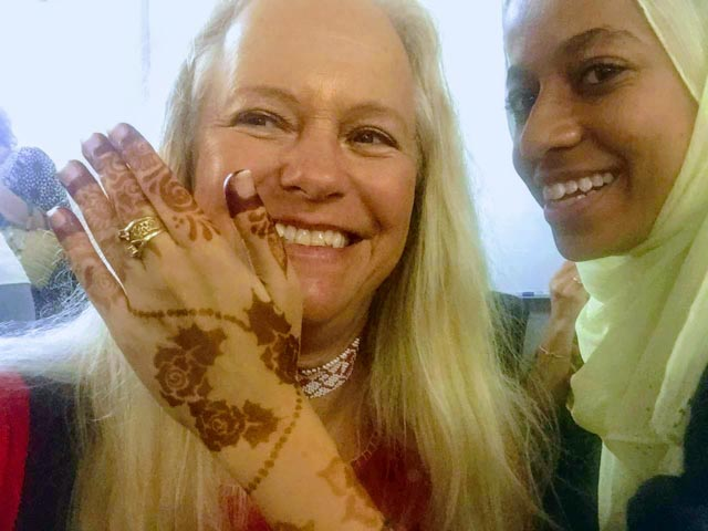…especially when they share their henna art.