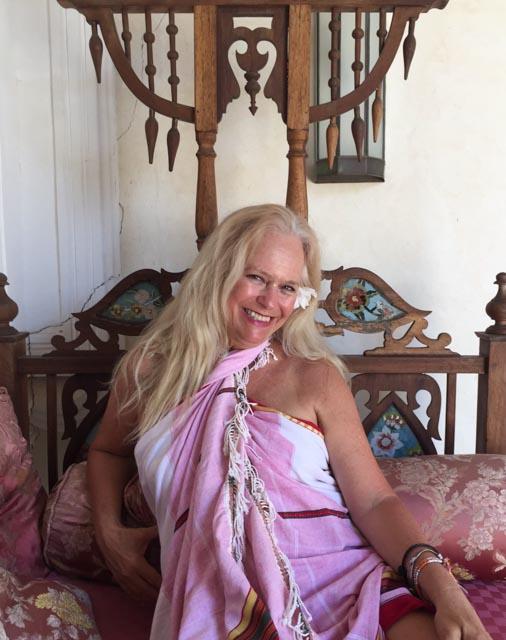 …relaxing on a Zanzibar bed…