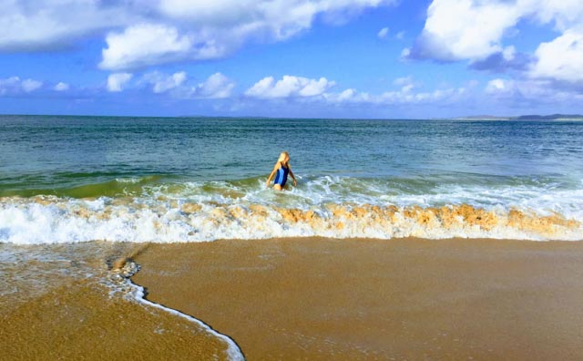 Swim in the warm Indian Ocean.