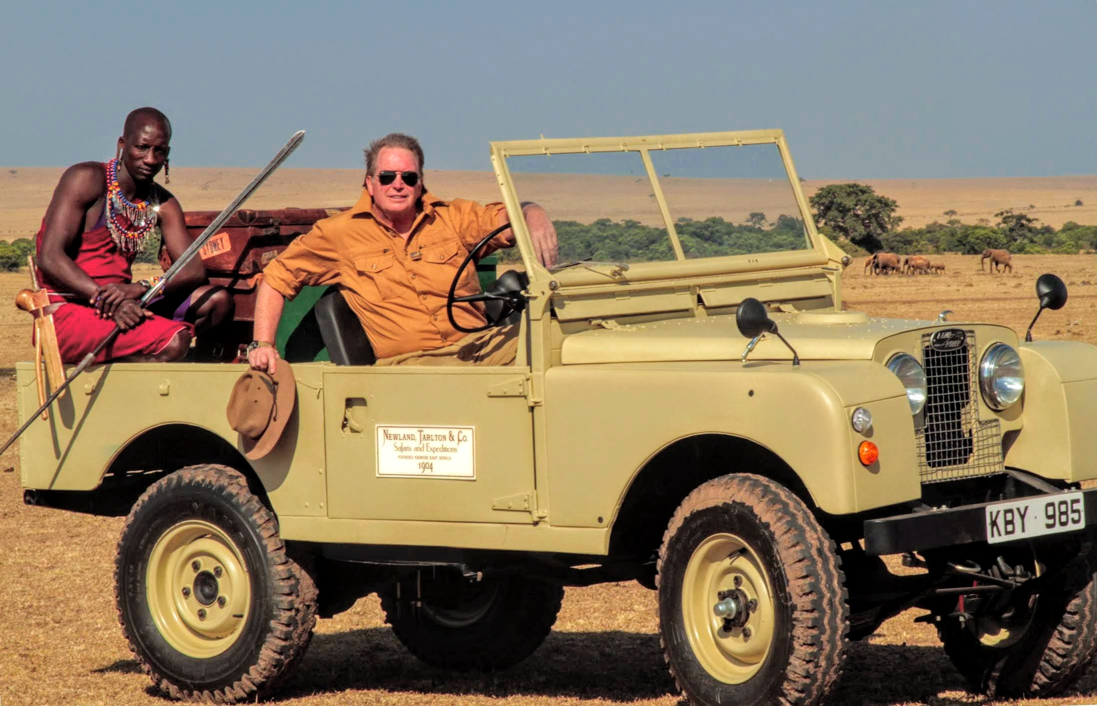 "Don Young of Newland Tarlton Safaris operates luxury ""Out of Africa""-style tented safaris and hosted Bibi Jordan on a safari in Kenya's top parks."