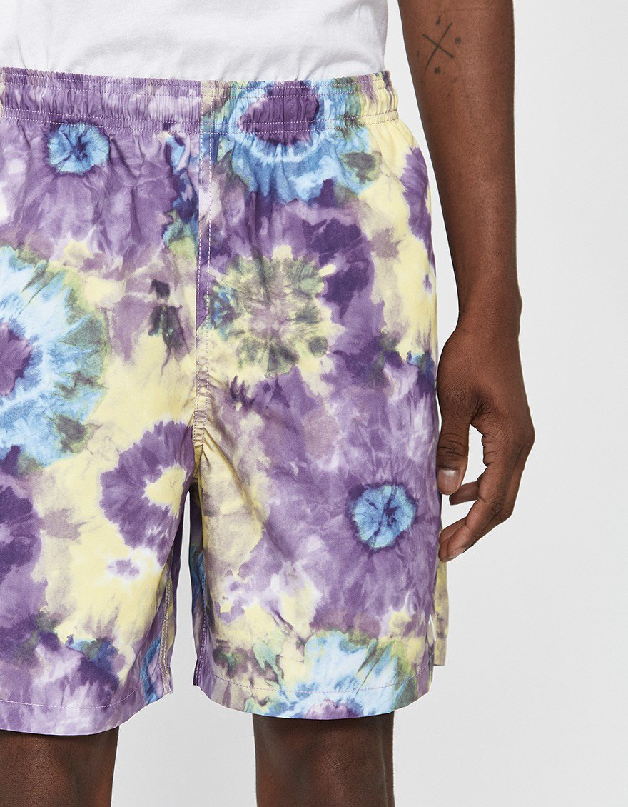 """70df372fd9209 Stussy Tie Dye Water Short: I'm seeing more and more """"hybrid"""" shorts out  there that can be worn casually but have a lining and work as swim trunks  too."""