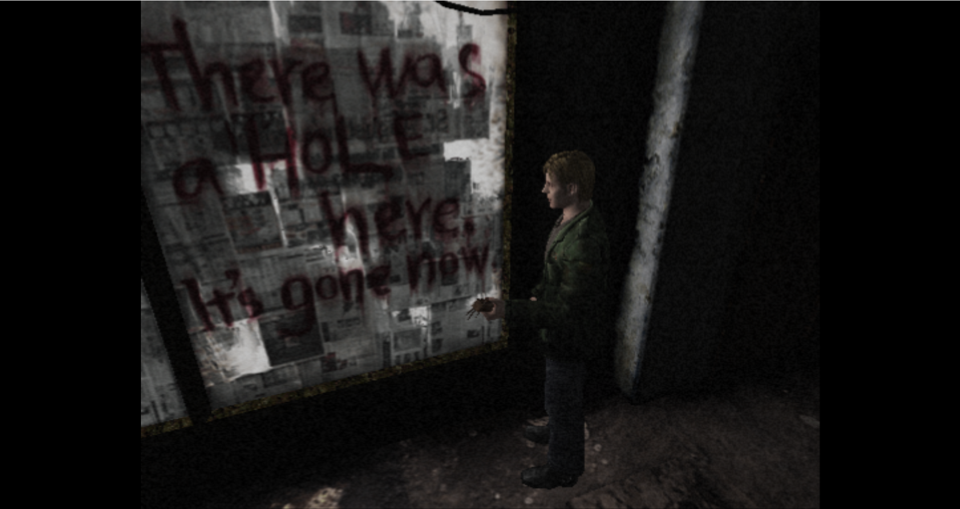 One of the less cryptic moments in Silent Hill 2.