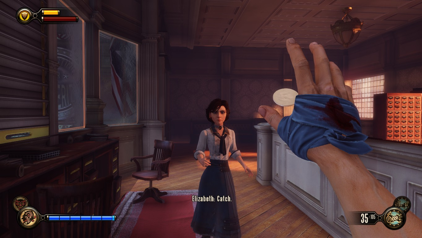 Elizabeth boils down to a simple function: Ammo Dispenser.  Slightly less useful than Team Fortress 2's.