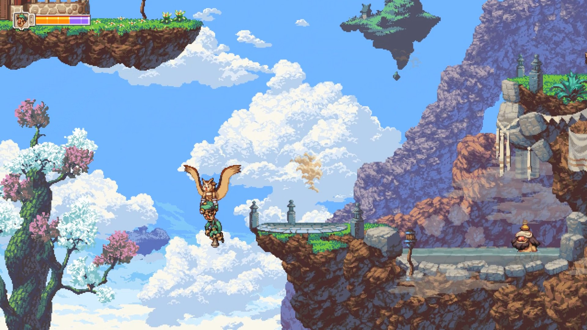 Here's an actual quality game with unlimited free flying: Owlboy.