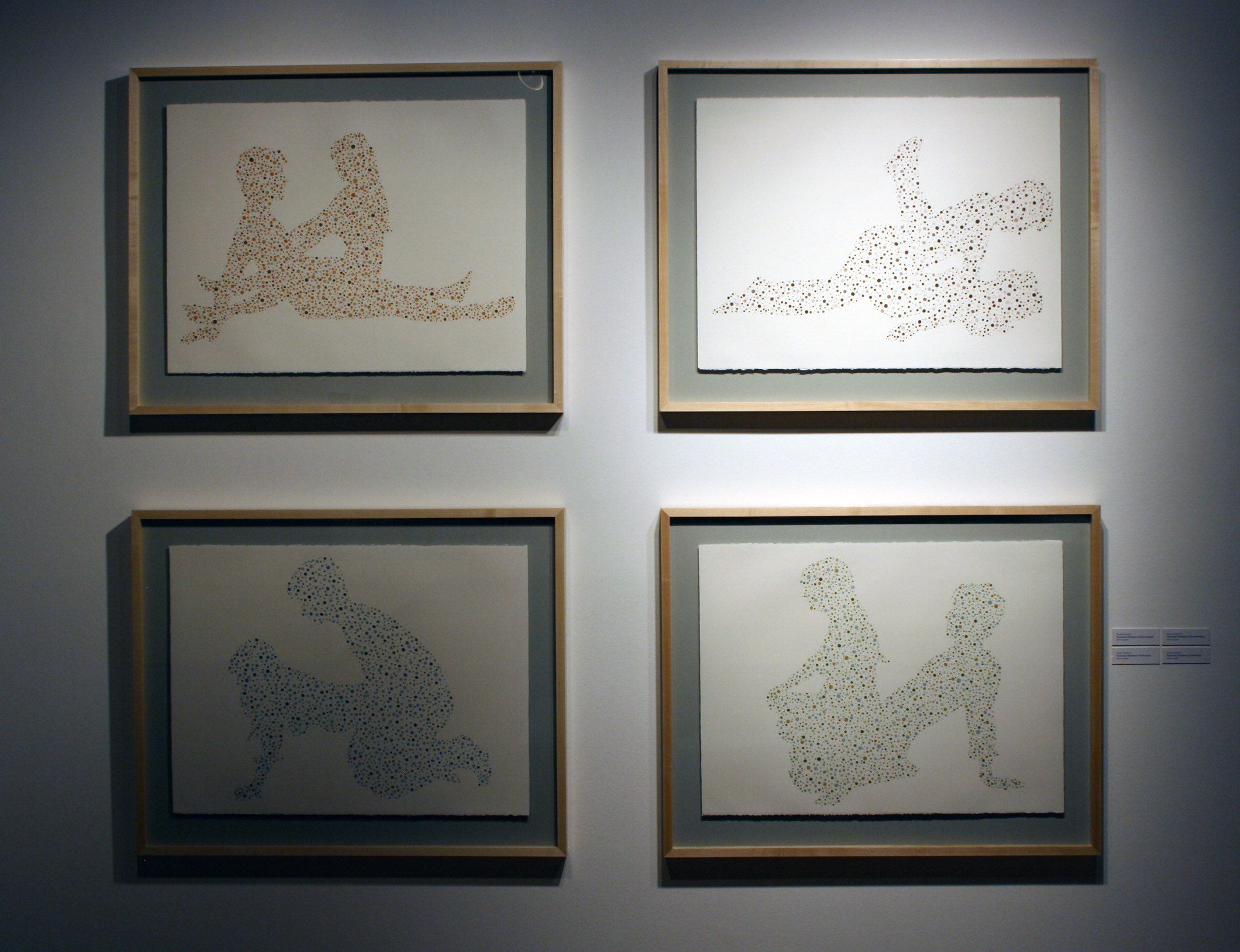 Positional Blindness Series , Ink on paper, 2010 (framed in exhibition)