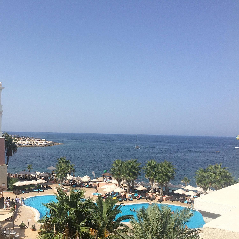 View from room at Westin Dragonara Resort, Malta