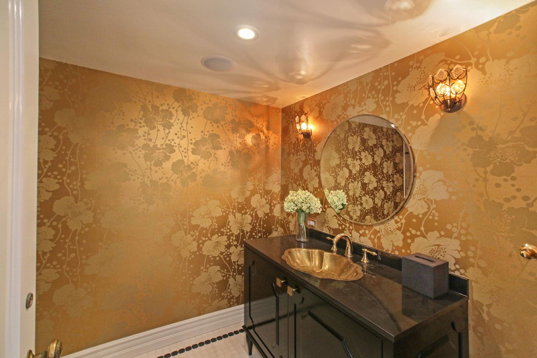 06-gold-wallpaper-bathroom-black-sink-vanity-gary-drake-general-contractor.jpg